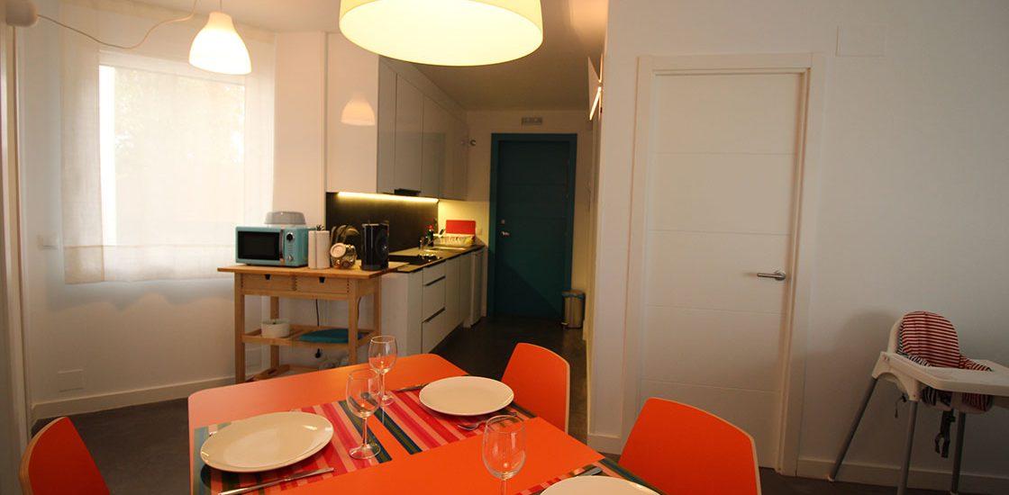 Comedor y cocina del Apartamento Norte