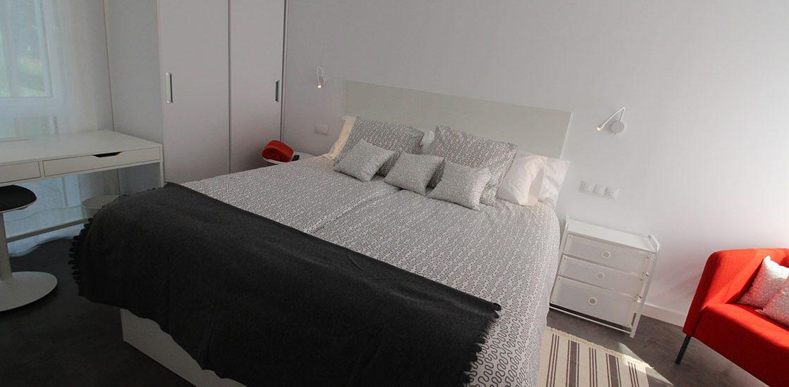 Dormitorio con dos camas del Apartamento Sur